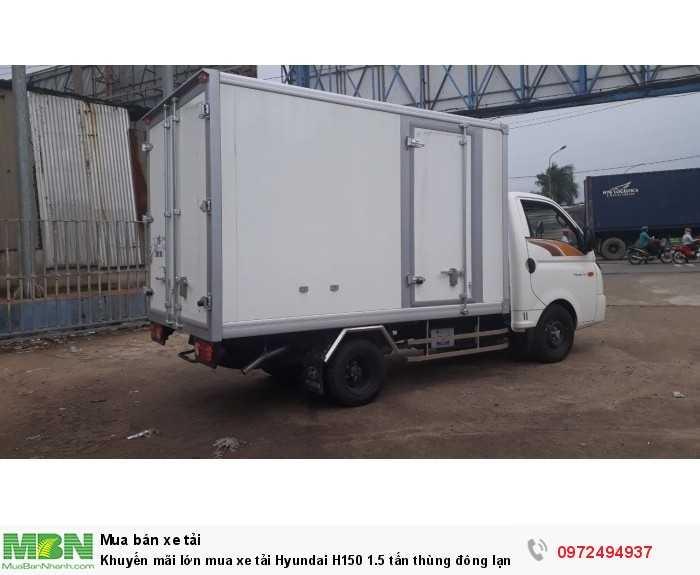 Xe tải Hyundai H150 1.5 tấn thùng đông lạnh - GỌI 0972494937 (24/24)