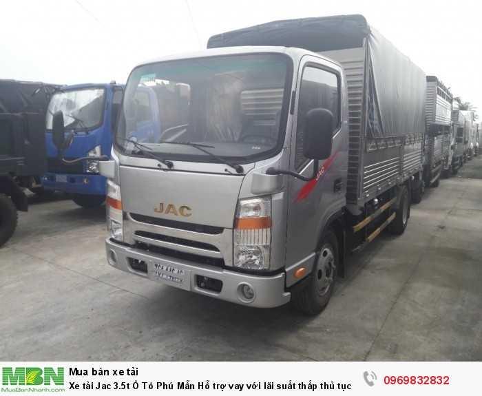 Xe tải Jac 3.5t Ô Tô Phú Mẫn Hỗ trợ vay với lãi suất thấp thủ tục nhanh gọn