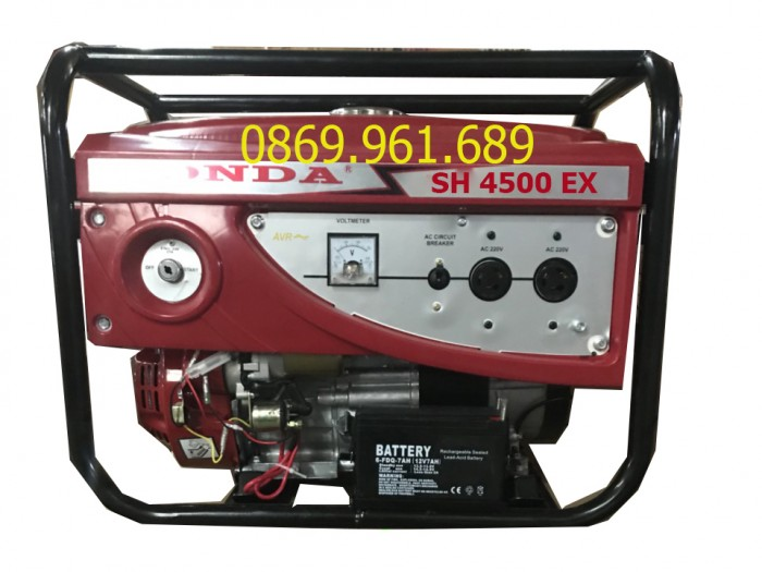 Máy phát điện honda SH 4500E BXD 3kw_nổ đề1