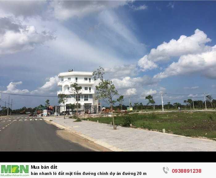 Bán nhanh lô đất mặt tiền đường chính dự án đường 20 m