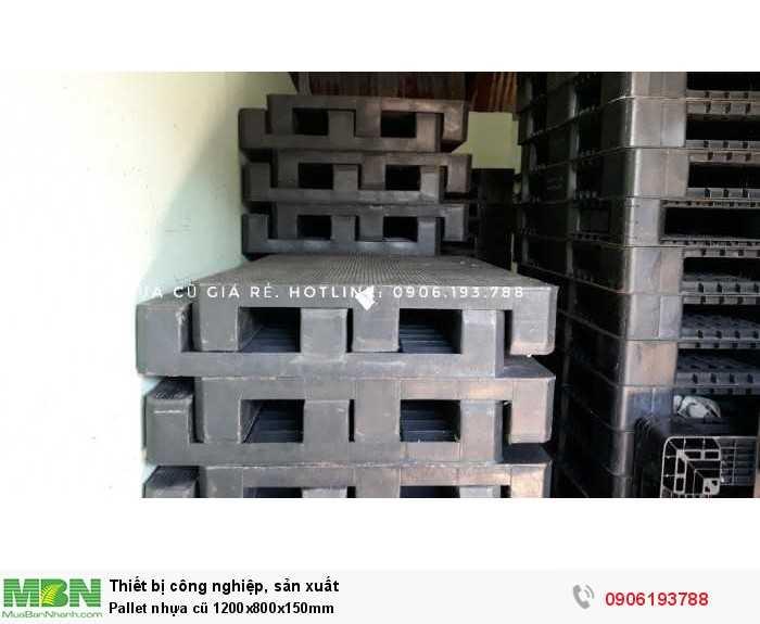 Pallet nhựa cũ 1200x800x150mm - GỌI 0906193788 (24/24 Ms Dung)