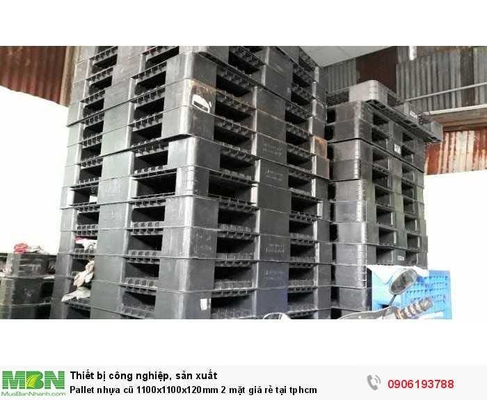 Bán pallet nhựa cũ 1100x1100x120mm 2 mặt giá rẻ tại tphcm - GỌI 0906193788 (Ms Dung 24/24)