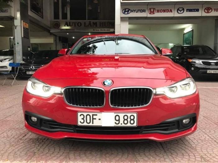 Bán BMW 3 Series 320i sản xuất 2016 đăng ký 05.2018 màu đỏ Biển Hà Nội.