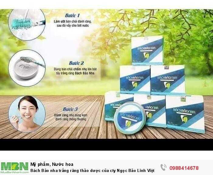 Bách Bảo nha trắng răng thảo dược của cty Ngọc Bảo Linh Việt Nam Freeship toàn quốc