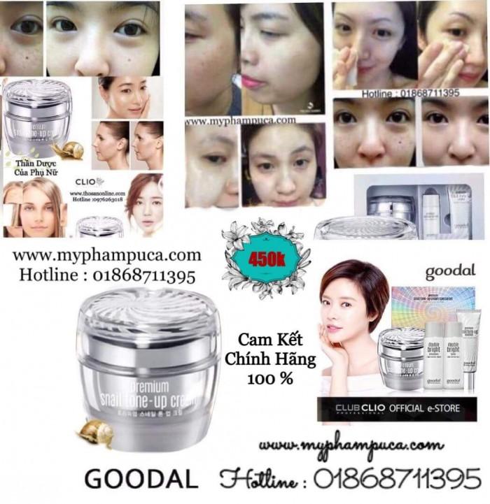 Kem Ốc Sên Goodal Sét 3 Sản Phẩm  [Chính Hãng ] - Goodal Premium Snail Tone Up Cream