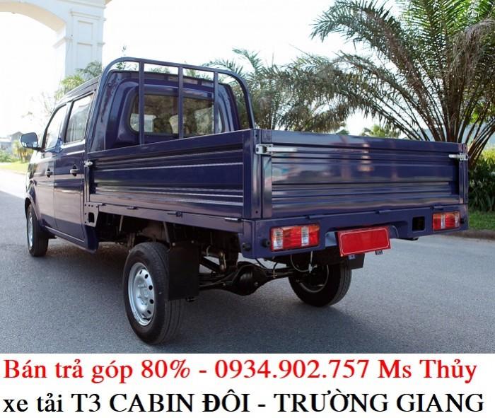 Giá xe tải T3 cabin đôi Trường - 810kg - bán xe tải trả góp chỉ với 50 triệu 0