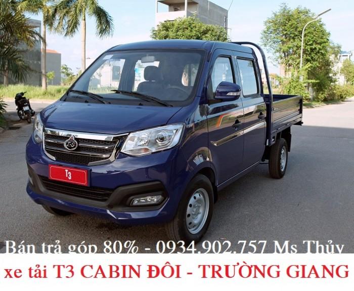 Giá xe tải T3 cabin đôi Trường - 810kg - bán xe tải trả góp chỉ với 50 triệu 3