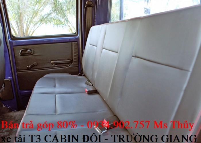 Giá xe tải T3 cabin đôi Trường - 810kg - bán xe tải trả góp chỉ với 50 triệu 2