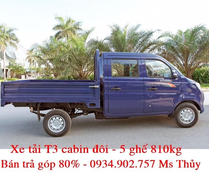 Giá xe tải T3 cabin đôi Trường - 810kg - bán xe tải trả góp chỉ với 50 triệu 1