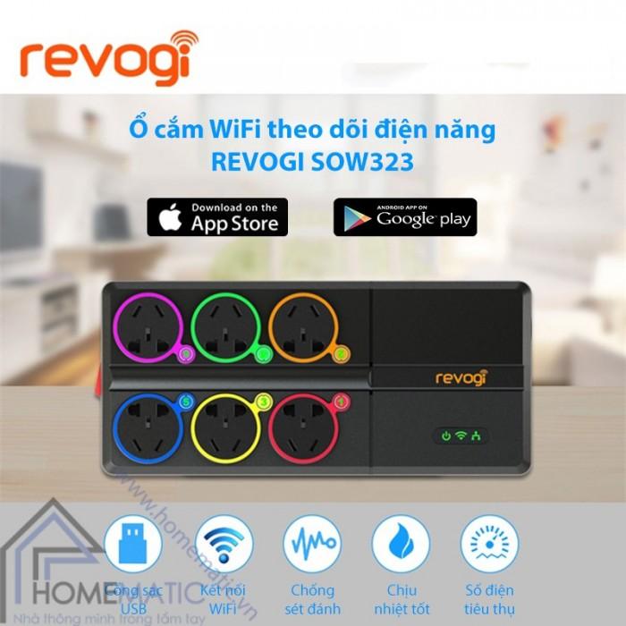 Ổ cắm WiFi theo dõi điện năng REVOGI SOW3231