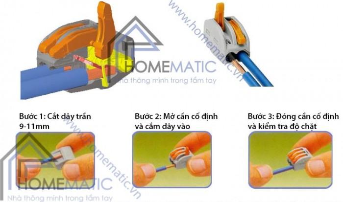 Cút nối dây điện không cần nối dây, không cần kìm bấm loại 5 cổng1