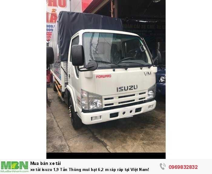 Xe tải isuzu 1,9 Tấn Thùng mui bạt 6,2 m lắp ráp tại Việt Nam! 1