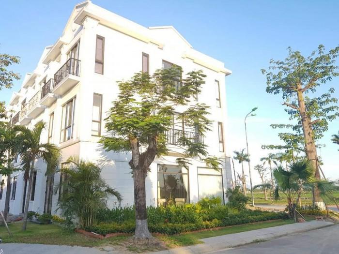 10 căn Shophouse duy nhất mặt tiền đường 60m tại Huế, vừa kinh doanh vừa cho thuê.