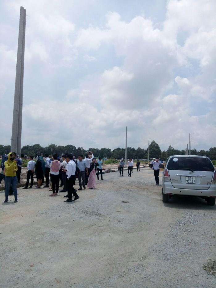 Ngay mặt tiền quốc lộ 13 thuộc xã Lai Uyên, huyện Bàu Bàng, tỉnh Bình Dương