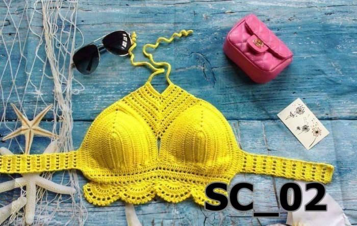 Bikini len màu vàng