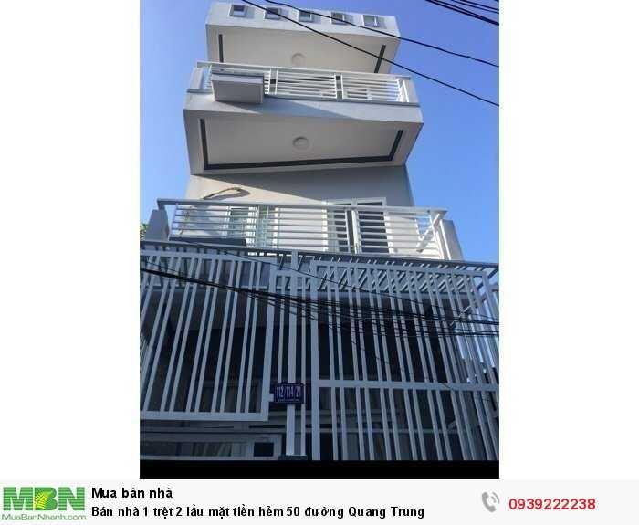 Bán nhà 1 trệt 2 lầu mặt tiền hẻm 50 đường Quang Trung