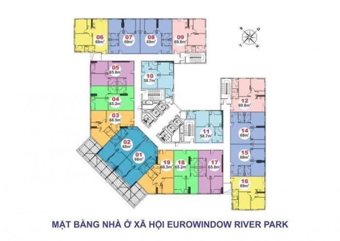 Bán nhanh Suất Ngoại giao Căn hộ tại EuroWindow River Park chân cầu Đông Trù