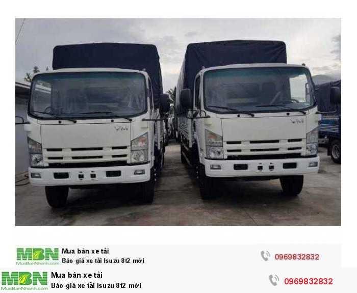 Báo giá xe tải Isuzu 8t2 mới