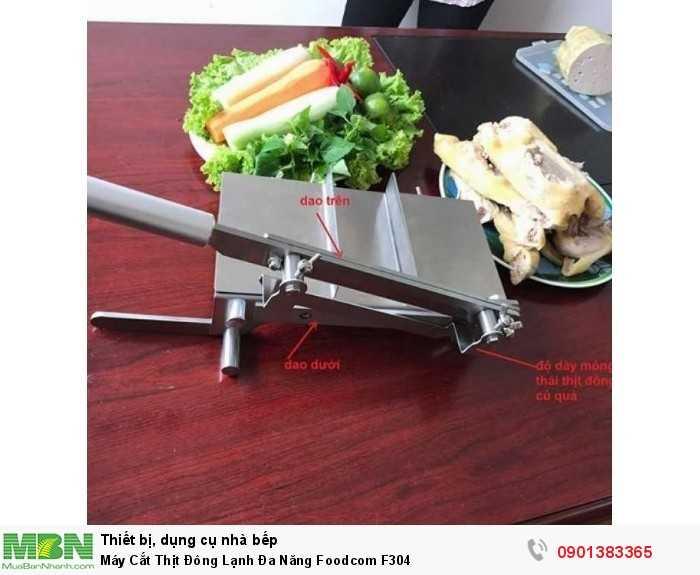 Kích thước: - Chiều dài tay cầm: 406mm - Chiều dài lưỡi dao: 220mm - Kích thước bàn thái: 150mm x 270mm