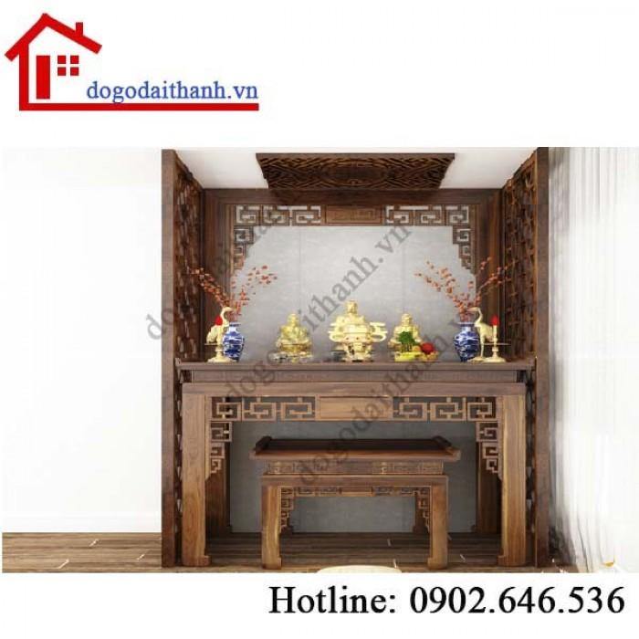 Xu hướng hot với bàn thờ gia tiên bằng gỗ đẹp2