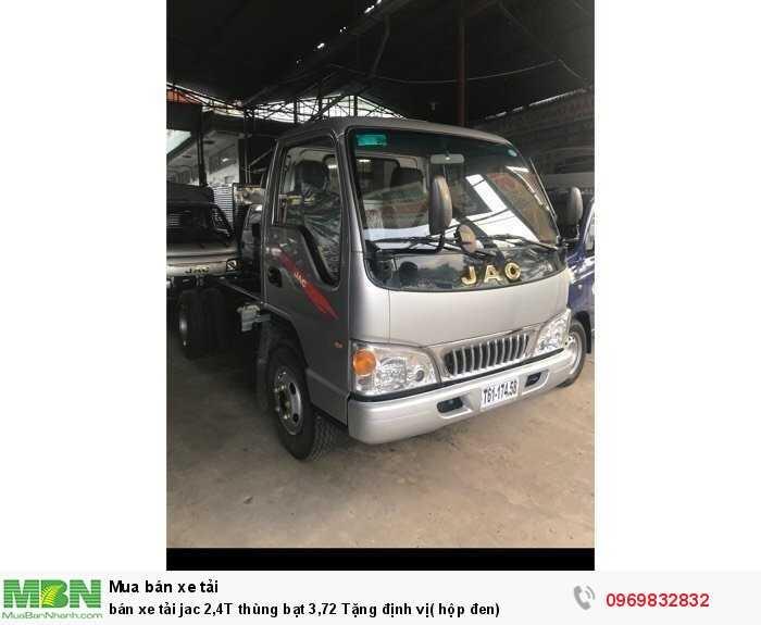 bán xe tải jac 2,4T thùng bạt 3,72 Tặng định vị( hộp đen)