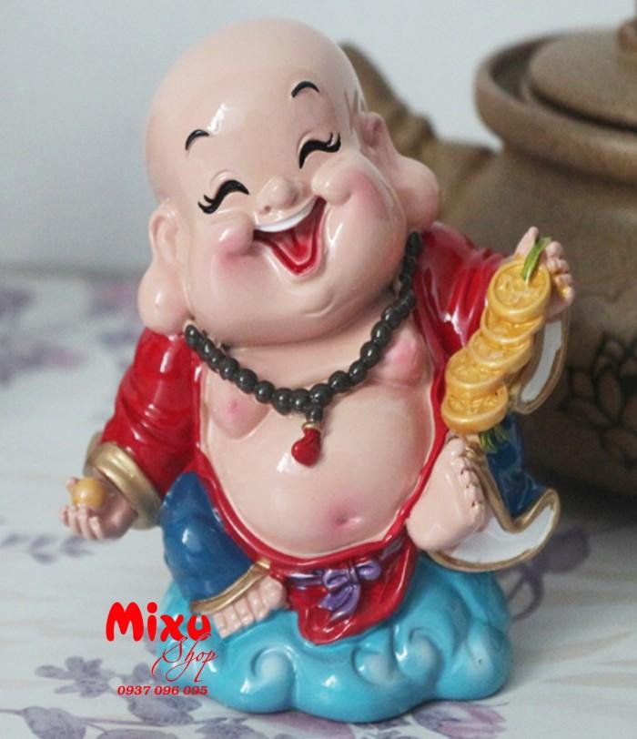 Tượng Phật Di Lặc Cầm Xâu Tiền 9cm1