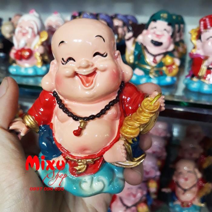 Tượng Phật Di Lặc Cầm Xâu Tiền 9cm0