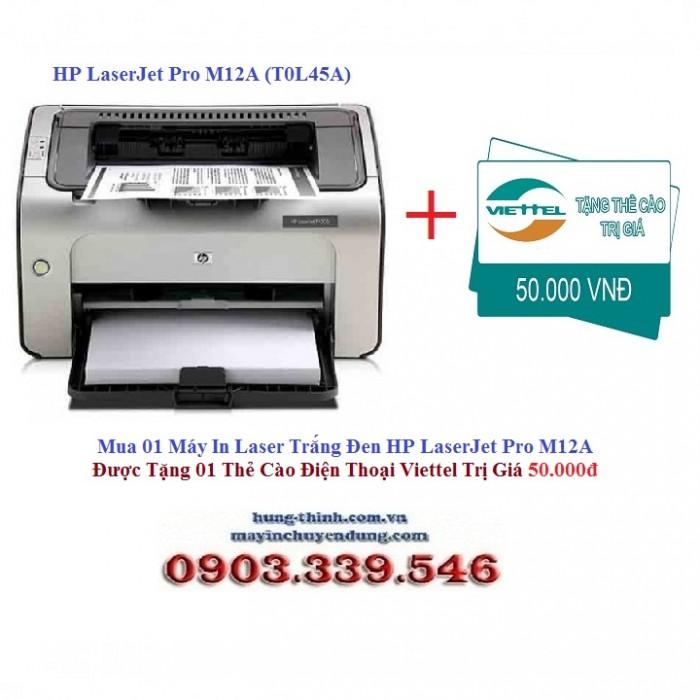 Máy In Laser HP LaserJet Pro M12A (T0L45A) - TẶNG THẺ CÀO 50K0