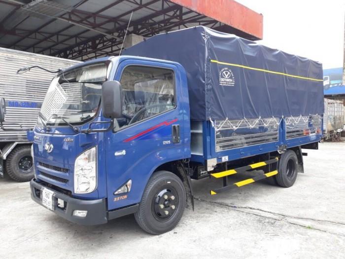 Khuyến mãi TRẢ GÓP mua xe tải Hyundai IZ65 3.5 tấn thùng mui bạt, trả trước 70 tri...