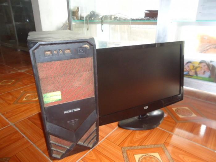 Bộ máy bàn H61 gigabyte + màn 20in đèn led0