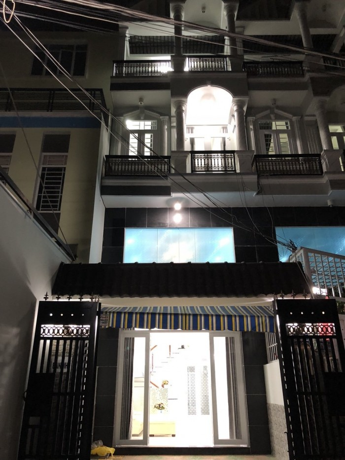 Bán nhà hẻm 1979 đường Huỳnh Tấn Phát, Nhà Bè, DT 4m x16m, 2 lầu, 4PN