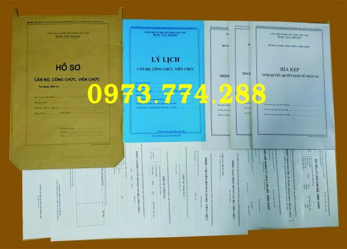 Xưởng in Mẫu hồ sơ công chức viên chức