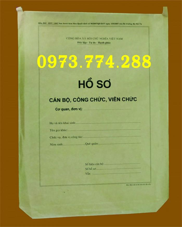Mẫu hồ sơ cán bộ công chức viên chức