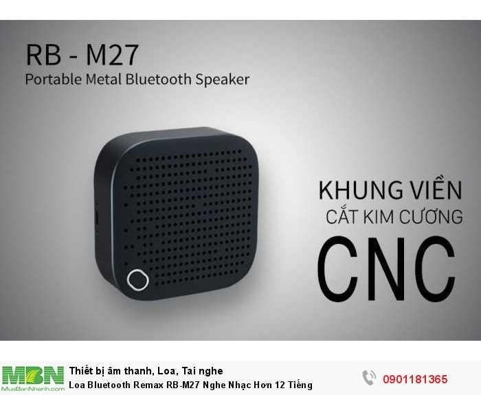 Loa Bluetooth chính hãng Remax RB-M27 thiết kế độc đáo với vỏ hợp kim bền chắc và sang trọng, áp dụng công nghệ CNC tạo nên vẻ đẹp tinh xảo, cao cấp.1