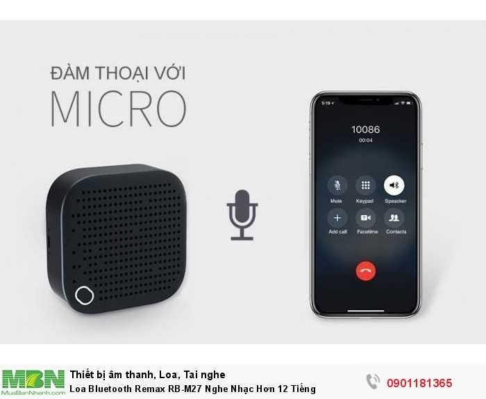 Loa tích hợp micro đàm thoại tiện lợi với khả năng chống ồn tốt.4