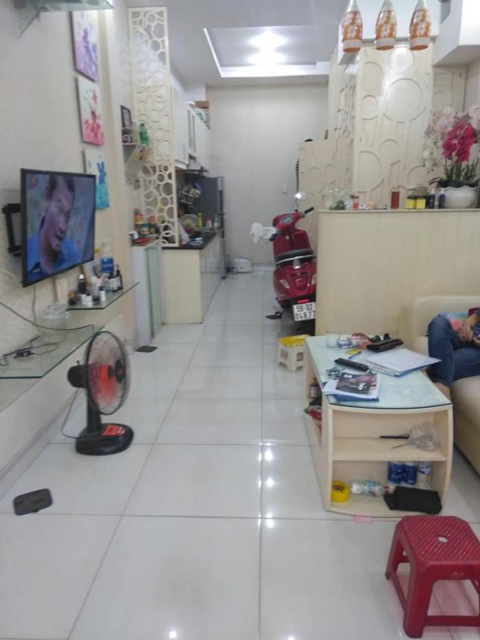 Nhà đẹp 1 trệt 1 lầu, hẻm xe tải Phan Văn Trị, P11, Bình Thạnh, 3 mặt thoáng