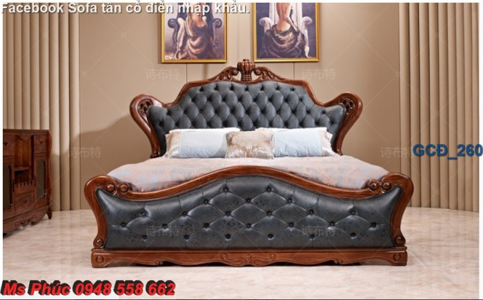 Đặt mua bộ giường ngủ cổ điển màu trắng cao cấp ms 263 giá rẻ tại xưởng, chiết khấu cao cho cửa hàng30