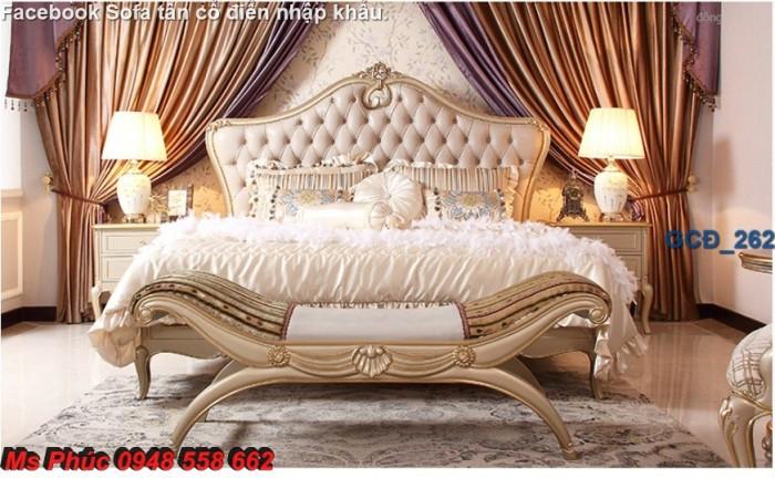 Đặt mua bộ giường ngủ cổ điển màu trắng cao cấp ms 263 giá rẻ tại xưởng, chiết khấu cao cho cửa hàng29