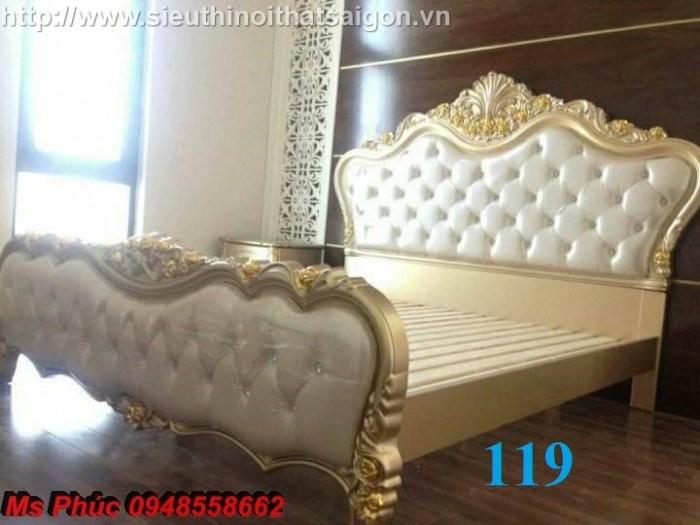 Đặt mua bộ giường ngủ cổ điển màu trắng cao cấp ms 263 giá rẻ tại xưởng, chiết khấu cao cho cửa hàng24