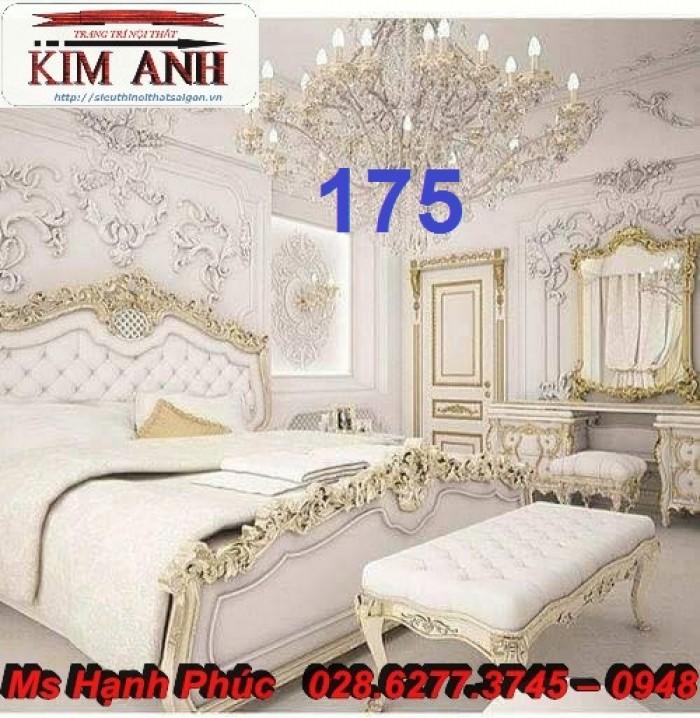 Đặt mua bộ giường ngủ cổ điển màu trắng cao cấp ms 263 giá rẻ tại xưởng, chiết khấu cao cho cửa hàng12