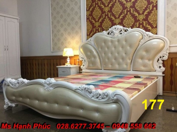 Đặt mua bộ giường ngủ cổ điển màu trắng cao cấp ms 263 giá rẻ tại xưởng, chiết khấu cao cho cửa hàng13