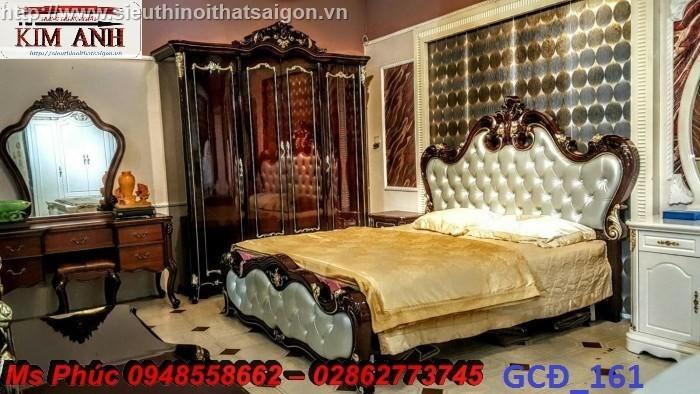 Đặt mua bộ giường ngủ cổ điển màu trắng cao cấp ms 263 giá rẻ tại xưởng, chiết khấu cao cho cửa hàng23