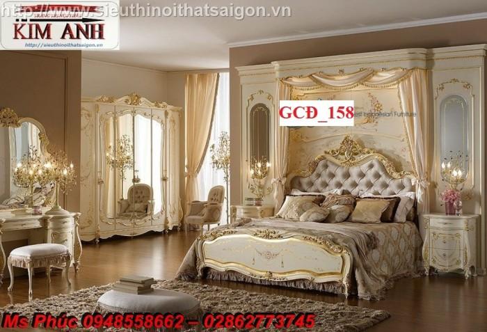 Đặt mua bộ giường ngủ cổ điển màu trắng cao cấp ms 263 giá rẻ tại xưởng, chiết khấu cao cho cửa hàng19