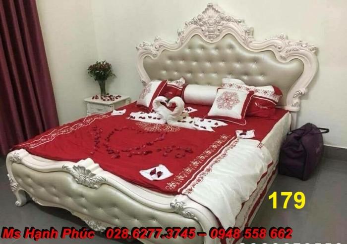 Đặt mua bộ giường ngủ cổ điển màu trắng cao cấp ms 263 giá rẻ tại xưởng, chiết khấu cao cho cửa hàng15