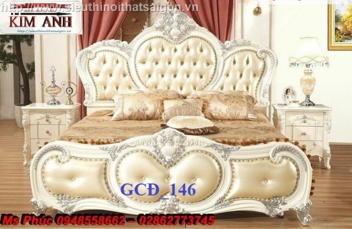 Đặt mua bộ giường ngủ cổ điển màu trắng cao cấp ms 263 giá rẻ tại xưởng, chiết khấu cao cho cửa hàng18