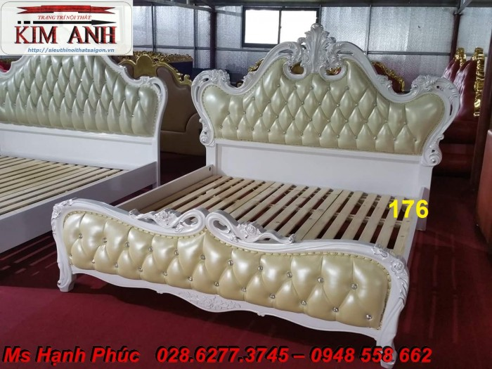 Đặt mua bộ giường ngủ cổ điển màu trắng cao cấp ms 263 giá rẻ tại xưởng, chiết khấu cao cho cửa hàng11