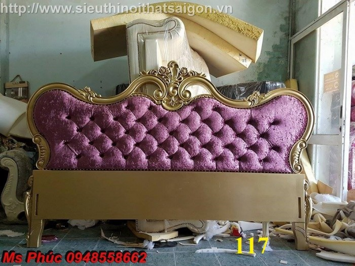 Đặt mua bộ giường ngủ cổ điển màu trắng cao cấp ms 263 giá rẻ tại xưởng, chiết khấu cao cho cửa hàng14