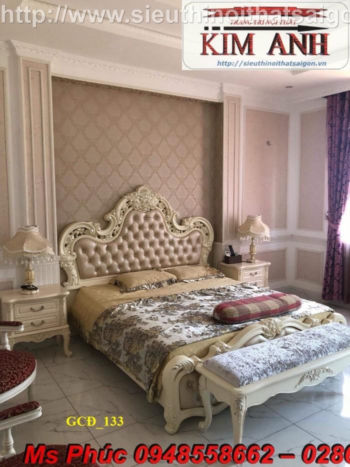 Đặt mua bộ giường ngủ cổ điển màu trắng cao cấp ms 263 giá rẻ tại xưởng, chiết khấu cao cho cửa hàng7