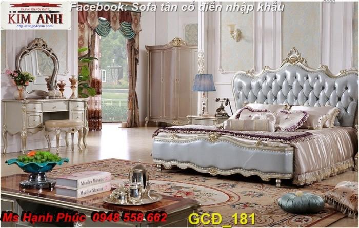 Đặt mua bộ giường ngủ cổ điển màu trắng cao cấp ms 263 giá rẻ tại xưởng, chiết khấu cao cho cửa hàng21