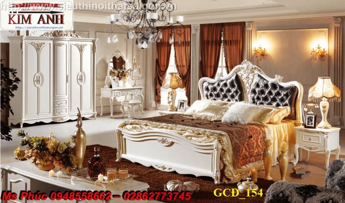 Đặt mua bộ giường ngủ cổ điển màu trắng cao cấp ms 263 giá rẻ tại xưởng, chiết khấu cao cho cửa hàng27